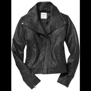 Old navy 100% leather jacket XL